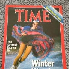 Coleccionismo de Revistas y Periódicos: REVISTA TIME 1988, KATARINA WITT. Lote 171426218