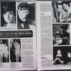 Coleccionismo de Revistas y Periódicos: RECORTE REVISTA SEMANA Nº 1728 1973 AUDREY HEPBURN. Lote 171428583