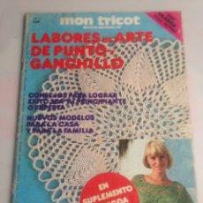 Coleccionismo de Revistas y Periódicos: MON TRICOT, LABORES DE ARTE DE PUNTO Y GANCHILLO ( EN SUPLEMENTO LA MODA CALADA ). Lote 171432768