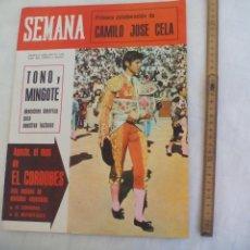 Coleccionismo de Revistas y Periódicos: REVISTA SEMANA NUM Nº 1328. 31-7-1965. EL CORDOBES MAPA CORRIDAS CAMILO JOSE CELA PLATILLOS VOLANTES. Lote 171461292