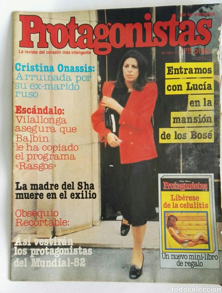 REVISTA PROTAGONISTAS 24-03-1982 N° 71 SARA MONTIEL BOSÉ GABY (Coleccionismo - Revistas y Periódicos Modernos (a partir de 1.940) - Otros)