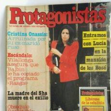 Coleccionismo de Revistas y Periódicos: REVISTA PROTAGONISTAS 24-03-1982 N° 71 SARA MONTIEL BOSÉ GABY. Lote 171463398
