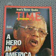 Coleccionismo de Revistas y Periódicos: REVISTA TIME 1990, NELSON MANDELA. Lote 171506784