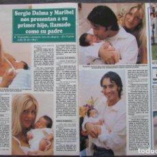 Coleccionismo de Revistas y Periódicos: RECORTE REVISTA SEMANA Nº 2898 1995 SERGIO DALMA Y MARIBEL SANZ. Lote 171514364