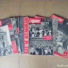 Coleccionismo de Revistas y Periódicos: DIGAME.-ROTATIVO GRAFICO SEMANAL.-REVISTAS.-TAUROMAQUIA.-TOROS.-LOTE DE 20 REVISTAS.-AÑOS 60.. Lote 171527332