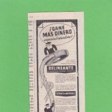 Coleccionismo de Revistas y Periódicos: PUBLICIDAD T 1957 - ANUNCIO INSTITUTO AMERICANO. Lote 171541209