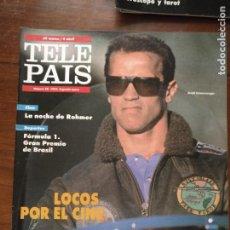 Coleccionismo de Revistas y Periódicos: TP TELE PAIS TELEPAIS 1992 REVISTA SUPLEMENTO ARNOLD SCHWARZENEGGER. Lote 232506605