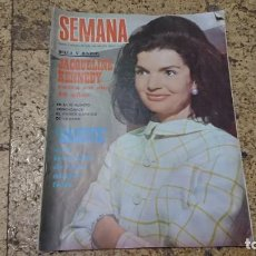 Coleccionismo de Revistas y Periódicos: ANTIGUA REVISTA SEMANA AGOSTO 1968 - JACQUELINE KENNEDY . Lote 171626878