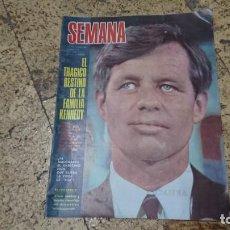 Coleccionismo de Revistas y Periódicos: ANTIGUA REVISTA SEMANA JUNIO 1968 - TRAGICO DESTINO DE LA FAMILIA KENNEDY . Lote 171628274