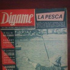 Coleccionismo de Revistas y Periódicos: DIGAME AÑO 1968- BIOGRAFÍA EDUARDINI - ARTURO KAPS- ALFONSO PASO-AUDREY HEPBURN MEL FERRER. Lote 171628309
