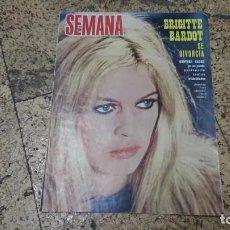 Coleccionismo de Revistas y Periódicos: ANTIGUA REVISTA SEMANA AGOSTO 1968 - BRIGITTE BARDOT . Lote 171628512