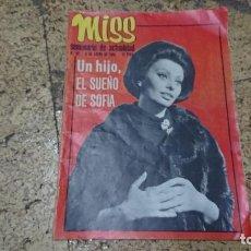 Coleccionismo de Revistas y Periódicos: REVISTA MISS SEMANARIO DE ACTUALIDAD ENERO 1969 - SOFÍA LOREN . Lote 171628809