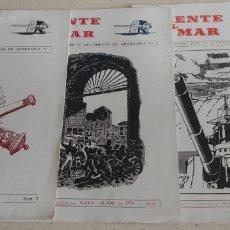Coleccionismo de Revistas y Periódicos: REVISTA MENSUAL FRENTE AL MAR REGIMIENTO ARTILLERIA 7 3 NUMEROS. Lote 171690352