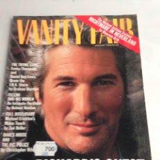 Coleccionismo de Revistas y Periódicos: VANITY FAIR, JANUARY 1994 - RICHARD GERE. Lote 171698504