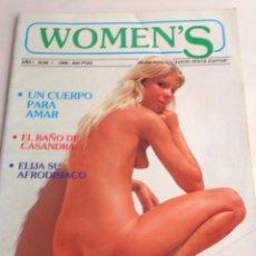 Coleccionismo de Revistas y Periódicos: WOMEN'S Nº 1 REVISTA EROTICA AÑOS 80 ¿ QUE LE PASO A MARILYN ?. Lote 171699900