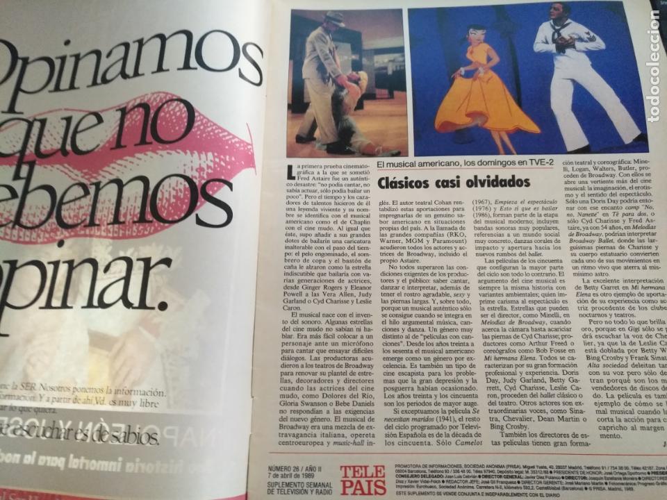 Coleccionismo de Revistas y Periódicos: tp tele pais telepais 1989 revista suplemento napoleon josefina ana belen lola flores superman - Foto 2 - 171703412