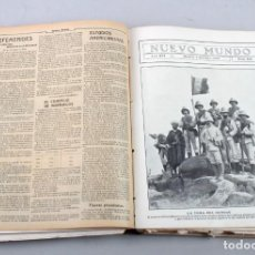 Coleccionismo de Revistas y Periódicos: TOMO ENCUADERNADO DE REVISTAS NUEVO MUNDO (1909). Lote 171712713