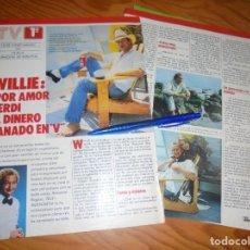 Coleccionismo de Revistas y Periódicos: RECORTE : SERIE V : WILLIE, EL LAGARTO VEGETARIANO. TELE INDISCRETA, MARZO 1985 (). Lote 171736260