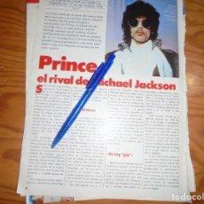 Coleccionismo de Revistas y Periódicos: RECORTE : PRINCE, EL RIVAL DE MICHAEL JACKSON. TELE INDISCRETA, MARZO 1985 (). Lote 171753065
