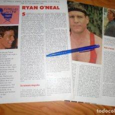 Coleccionismo de Revistas y Periódicos: RECORTE : RYAN O´NEAL . TELE INDISCRETA, 1985 (). Lote 171753683