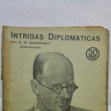 Coleccionismo de Revistas y Periódicos: ENTRIGAS DIPLOMATICAS, REVISTA LITERARIA NOVELAS Y CUENTOS, Nº 229, MAYO 1933. Lote 171812380