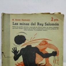 Coleccionismo de Revistas y Periódicos: LAS MINAS DEL REY SALOMON, H. RIDER HAGGARD, REVISTA LITERARIA, NOVELAS Y CUENTOS, Nº 821, 1947. Lote 171821453