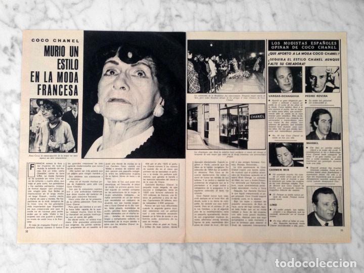 REPORTAJE - COCO CHANEL - 1971 (Coleccionismo - Revistas y Periódicos Modernos (a partir de 1.940) - Otros)