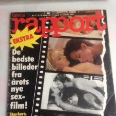 Coleccionismo de Revistas y Periódicos: RAPPORT OKTOBER 1977 - REVISTA EROTICA DANESA AÑO 1977. Lote 171991418