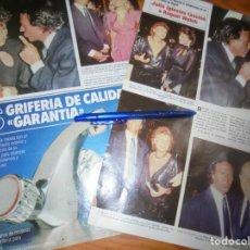 Coleccionismo de Revistas y Periódicos: RECORTE : JULIO IGLESIAS FASCINO A RAQUEL WELCH. SEMANA, OCTBRE 1984 (). Lote 172067023