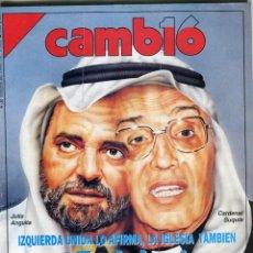 Coleccionismo de Revistas y Periódicos: CAMBIO 16 Nº 1002 - JULIO ANGUITA/CARDENAL SUQUIA (IRAK) - MIÑANCO EL CAPO GALLEGO - 4/2/1991. Lote 172122163