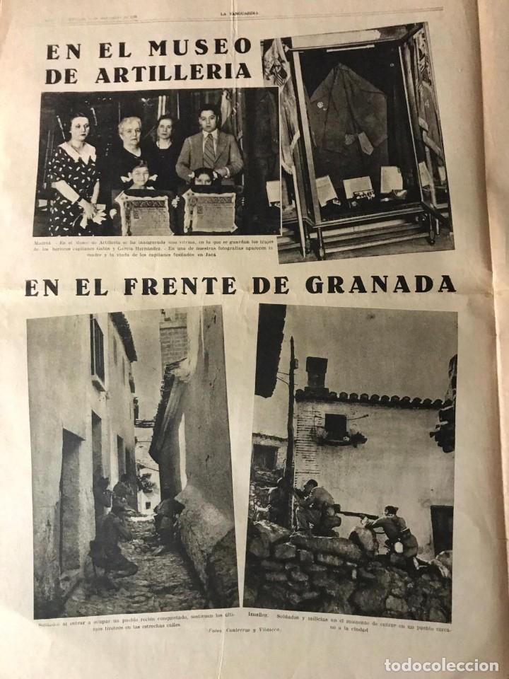 Coleccionismo de Revistas y Periódicos: La Vanguardia 1936. Guerra civil española. Cartagena. Jaca. Granada. París. - Foto 2 - 147797950