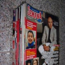 Coleccionismo de Revistas y Periódicos: SEMANA - LOTE DE 24 REVISTAS.. Lote 172228203