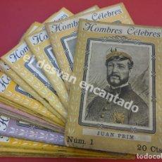 Coleccionismo de Revistas y Periódicos: HOMBRES CELEBRES. COL. COMPLETA. 21 REVISTAS. RAMON COSTA EDITORIAL. . Lote 172295899