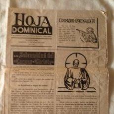 Coleccionismo de Revistas y Periódicos: HOJA DOMINICAL N. 2.482 SUPLEMENTO POPULAR DE LA REVISTA ECCLESIA - JUNIO 1990. Lote 172305247
