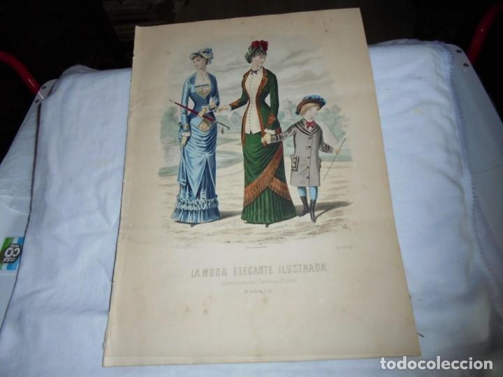 REVISTA CON LAMINA COLOREADA LA MODA ELEGANTE 1880.-14 DE MAYO.-AÑO XXXIX.-Nº 18 (Coleccionismo - Revistas y Periódicos Antiguos (hasta 1.939))