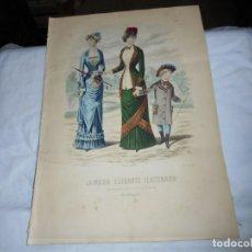 Coleccionismo de Revistas y Periódicos: REVISTA CON LAMINA COLOREADA LA MODA ELEGANTE 1880.-14 DE MAYO.-AÑO XXXIX.-Nº 18. Lote 195143828