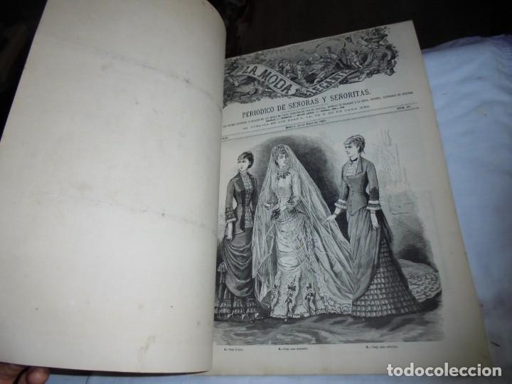 Coleccionismo de Revistas y Periódicos: REVISTA CON LAMINA COLOREADA LA MODA ELEGANTE 1880.-14 DE MAYO.-AÑO XXXIX.-Nº 18 - Foto 2 - 195143828