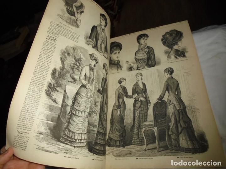 Coleccionismo de Revistas y Periódicos: REVISTA CON LAMINA COLOREADA LA MODA ELEGANTE 1880.-14 DE MAYO.-AÑO XXXIX.-Nº 18 - Foto 3 - 195143828