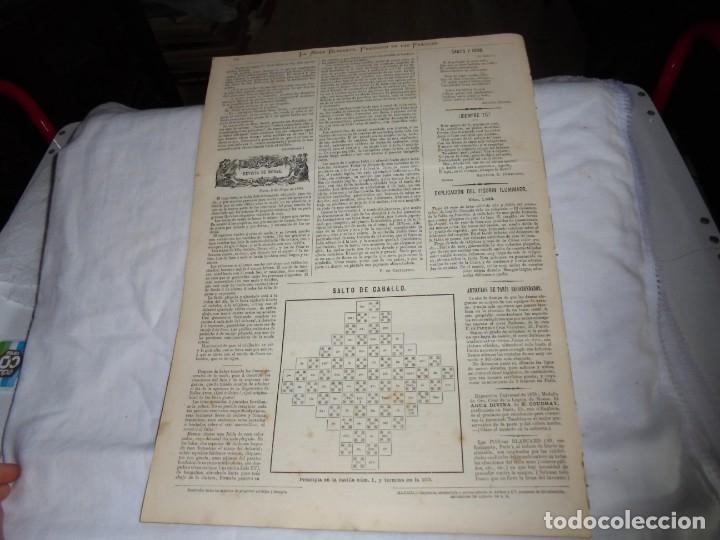 Coleccionismo de Revistas y Periódicos: REVISTA CON LAMINA COLOREADA LA MODA ELEGANTE 1880.-14 DE MAYO.-AÑO XXXIX.-Nº 18 - Foto 4 - 195143828