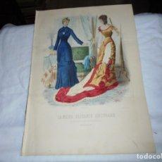 Coleccionismo de Revistas y Periódicos: REVISTA LA MODA ELEGANTE CON LAMINA COLOREADA 1880.-14 DE ABRIL.-AÑO XXXIX.Nº 14.CONTIENE PATRON. Lote 195143843