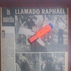 Coleccionismo de Revistas y Periódicos: RECORTE- CANTANTE RAPHAEL UN MALETILLA EN MEJICO -DIGAME AÑO 1969 - 42 X 28 CM- VER DETALLES. Lote 172583738