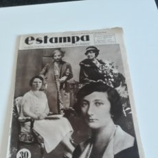 Coleccionismo de Revistas y Periódicos: REVISTA ESTAMPA Nº 341 - 21 JULIO DE 1934 - ONCE PRINCESAS BUSCAN NOVIO. Lote 172604820