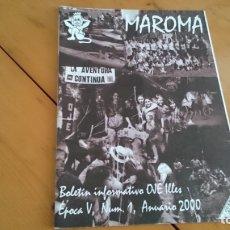 Coleccionismo de Revistas y Periódicos: BOLETÍN REVISTA MAROMA OJE ÉPOCA V NUM 1 ANUARIO 2000 ILLES BALEARS - ORGANIZACIÓN JUVENIL ESPAÑOLA . Lote 172651739