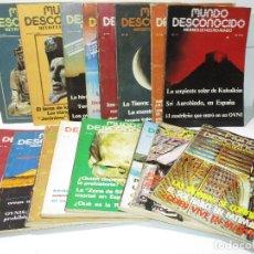 Coleccionismo de Revistas y Periódicos: LOTE 17 REVISTAS MUNDO DESCONOCIDO - MÁS ALLÁ PARAPSICOLGÍA ESOTERISMO OVNIS FENÓMENOS PARANORMALES. Lote 117942459