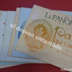 Coleccionismo de Revistas y Periódicos: LE PANORAMA. HEBDOMADAIRE. REVISTA DE BELLE EPOQUE. PARIS. CIRCA 1900. LOTE DE 9 REVISTAS. Lote 172828932