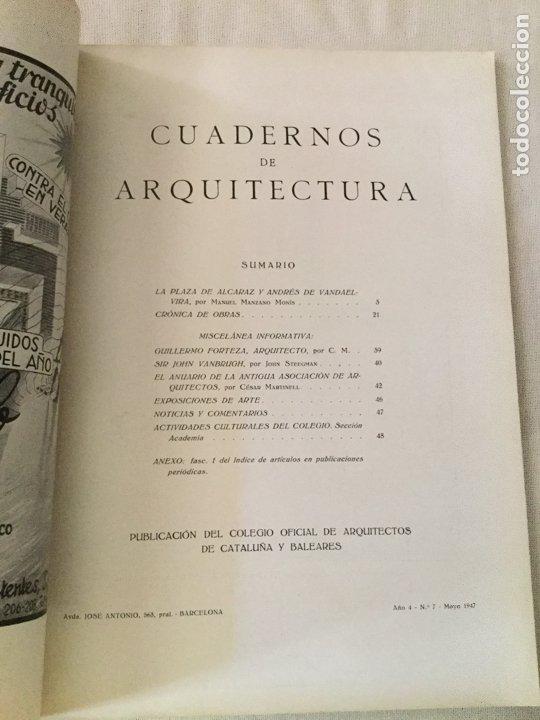 Coleccionismo de Revistas y Periódicos: 10 primeros números de Cuadernos de Arquitectura de Cataluña y Baleares. Enero 1944-Junio 1949. - Foto 8 - 172880894