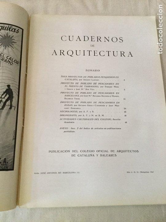 Coleccionismo de Revistas y Periódicos: 10 primeros números de Cuadernos de Arquitectura de Cataluña y Baleares. Enero 1944-Junio 1949. - Foto 9 - 172880894