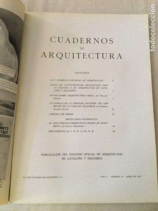 Coleccionismo de Revistas y Periódicos: 10 primeros números de Cuadernos de Arquitectura de Cataluña y Baleares. Enero 1944-Junio 1949. - Foto 11 - 172880894