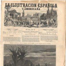 Coleccionismo de Revistas y Periódicos: LA ILUSTRACIÓN ESPAÑOLA Y AMERICANA GUERRA CARLISTA 1874 (30 MAR) VIZCAYA, GERONA, SELLO CARLISTA. Lote 172961827