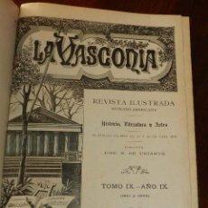 Coleccionismo de Revistas y Periódicos: LA VASCONIA, REVISTA ILUSTRADA EUSKARO-AMERICANA, HISTORIA, LITERATURA Y ARTES, TOMO IX, AÑO IX, 190. Lote 172991334